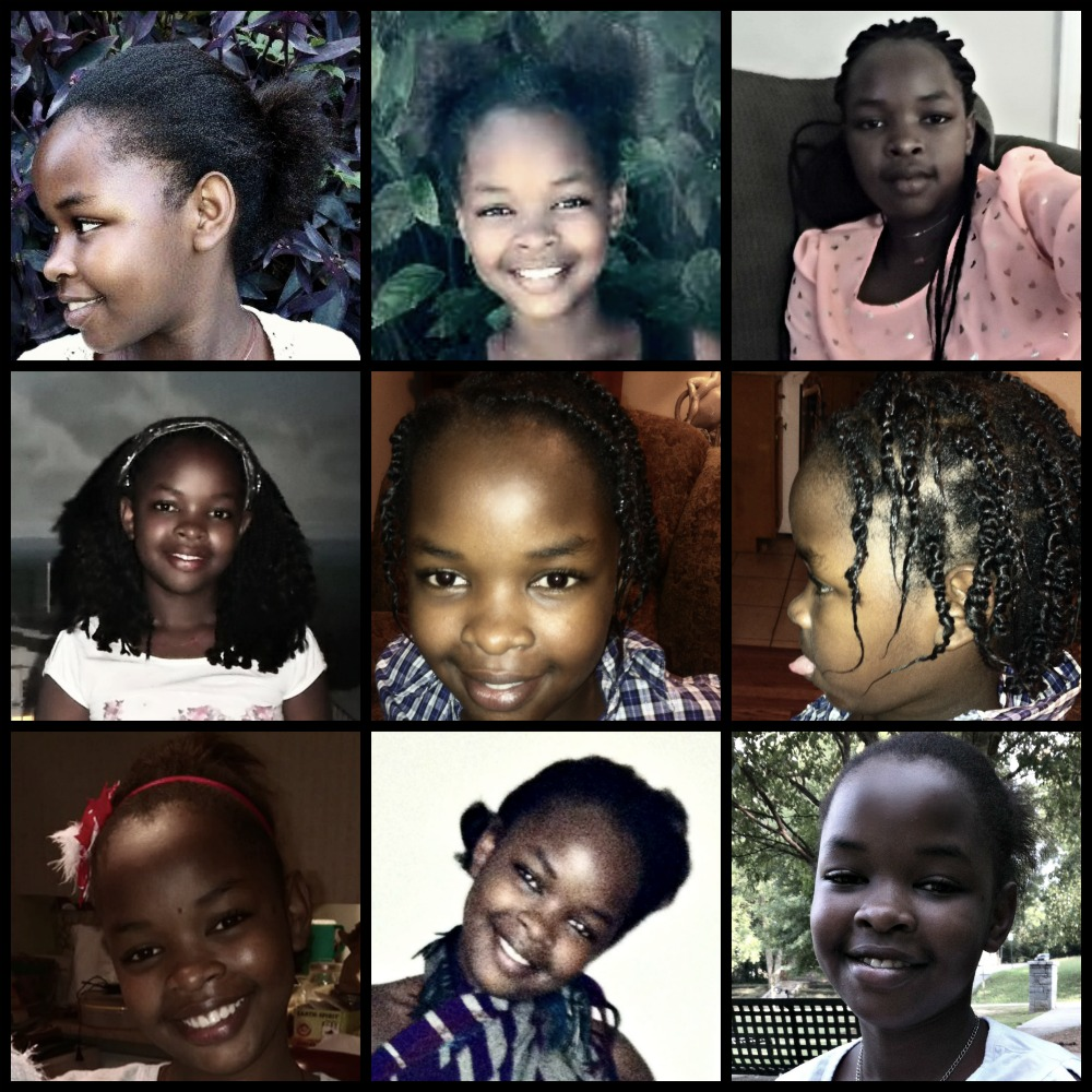 Violets Hair Collage
